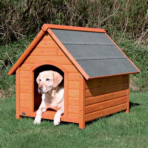 pet house shop trixie pet products 3 437 ft x 3 145 ft x 3 666 ft log cabin dog house at lowes com