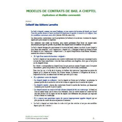 Modele Lettre Resiliation Bail Fermage Agricole