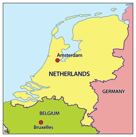 Or Nederland Kaart Nederland Belgie Digtotaal