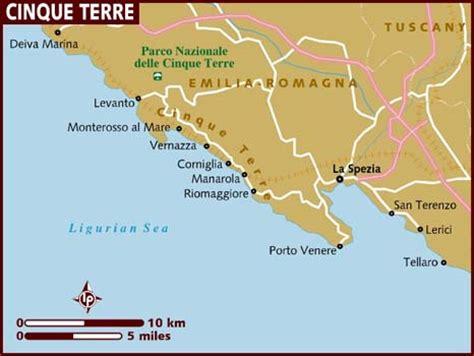 cinque terre italy map map of cinque terre