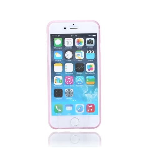 silicone for apple iphone 6 6s plus pink transparent ultra slim 0 65mm the kase