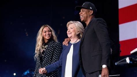 jay z and beyonce perform at star studded tidal show cbs beyonce jay z headline star studded hillary clinton