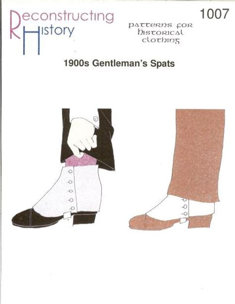 historical pattern review reconstructing history 1900s gentleman s spats 1007