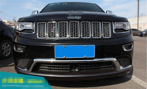Front Grill Jeep Grand 1set Abs Chrome Honeycomb Front Grill Grilles Cover For