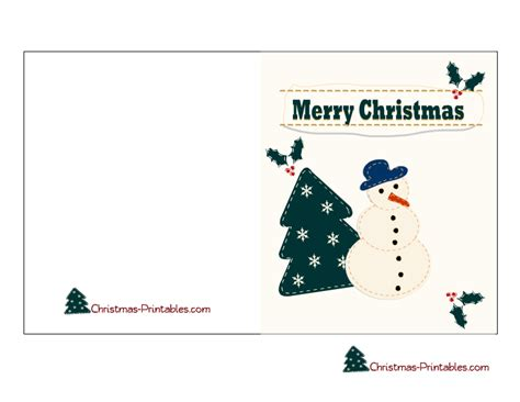 printable christmas greeting cards for teachers free printable christmas card featuring snow man and