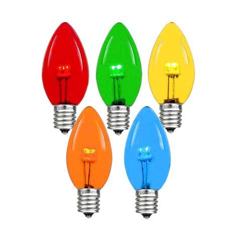 colored led bulbs multi colored led c7 glass bulbs novelty lights