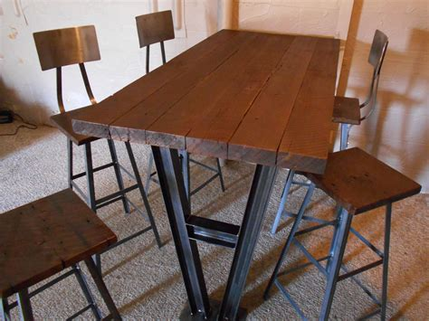 Wall Bar Table Custom Industrial Trestle Wall Mounted Bar Table By Twisted Arc Custommade