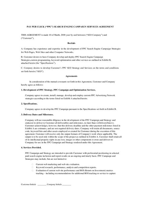 it service agreement contract template 10 best images of it service agreement sles sle