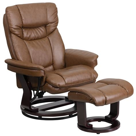 home recliner brown bonded leather recliner grand furniture depot