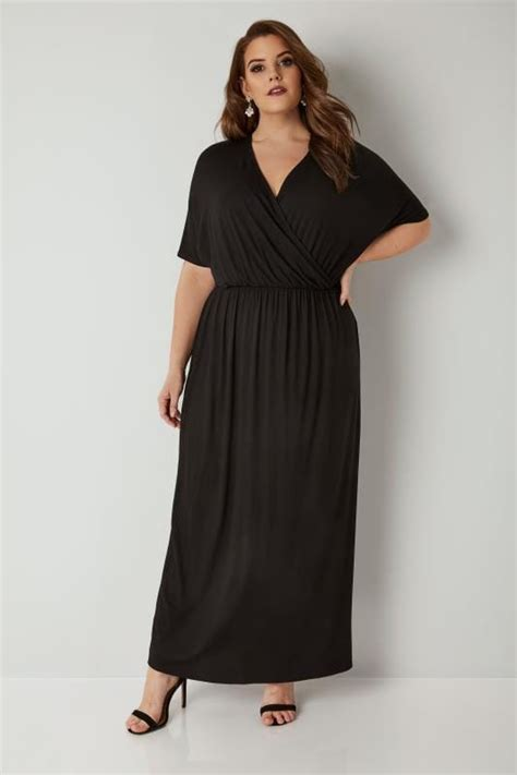 And Color Icon Blush Chagne Blushon Blush On black wrap jersey maxi dress plus size 16 to 36
