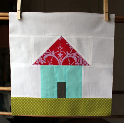 House Quilt Block by Olive And Ollie Home Sweet Home Quilt Along House