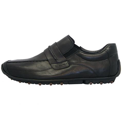 black boots mens shoes rieker garrit 08951 mens smart casual black leather