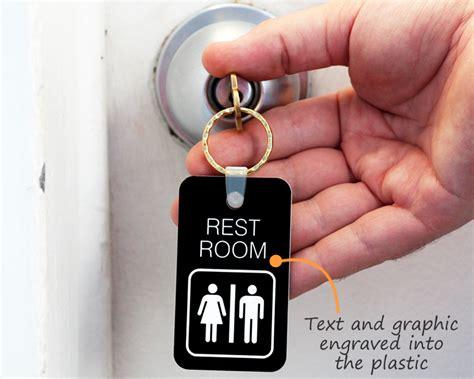 Bathroom Key Tag by Engraved Bathroom Key Chains