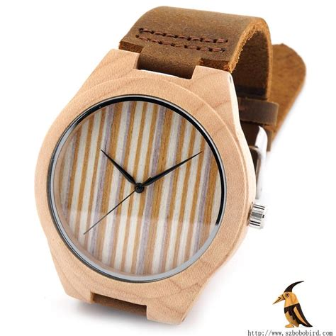 Gc 6048 Leathe Brown R List For 100 logs pine wooden watches japanese miyota 2035