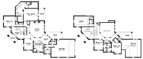 corner house floor plans corner lot house plans plan 85123ms angled entry 5 bed modern house plan house