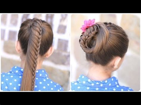 cute girl hairstyles buns youtube lace braided ponytail style laboration with lilith moon
