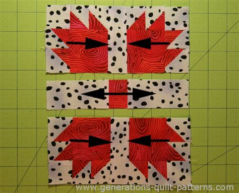 bears paw quilt block pattern in 3 sizes