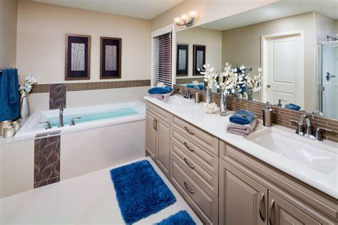 blue and beige bathroom ideas beige and blue bathroom bathroom tropical with half wall