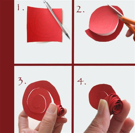 How To Make A Flower Out Of Notebook Paper - a much simpler way to get a paper flower cutting the