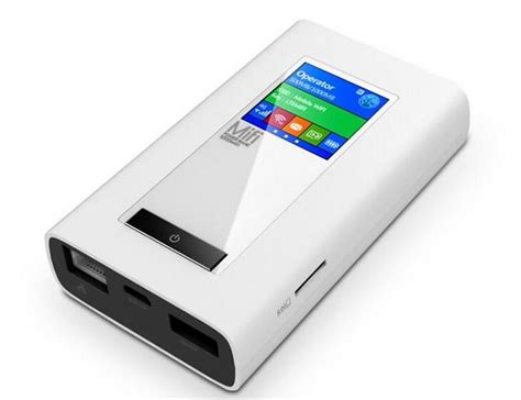Mifi Router Gsm new lte gsm 4g wireless dongle mifi with 5200mah power bank two sim card slot rj45 port modem