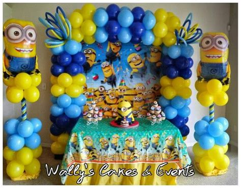 Balloon decoration minions minions globos minions decoraci 243 n ideas pinterest balloon