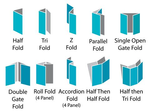 How To Fold Paper To Make A Brochure - image gallery different folds
