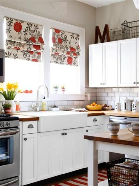 Modern Country Kitchen Design Raffrollo F 252 R K 252 Che Eine Praktische Dekoration F 252 R Die