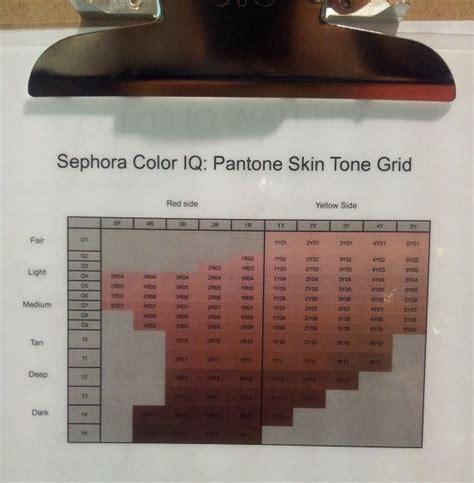 sephora color iq chart sephora color iq pantone skin tone grid my interests