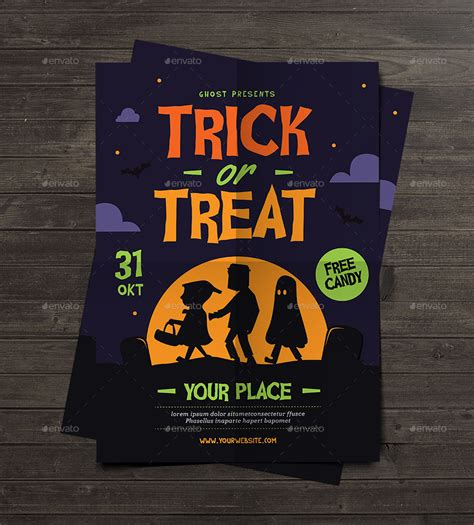 Trick Or Treat Graphic 8 trick or treat flyer by guuver graphicriver