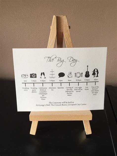order   wedding day timeline cards wedding