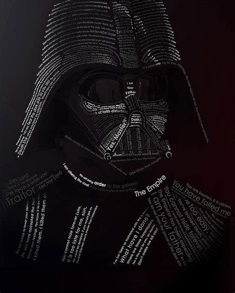 Augmented Reality Home Design Ipad by Star Wars Typography Darth Vader Created With His Quotes