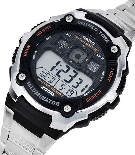 casio jam tangan ae 2000 wd 1 avdf silver tokospot