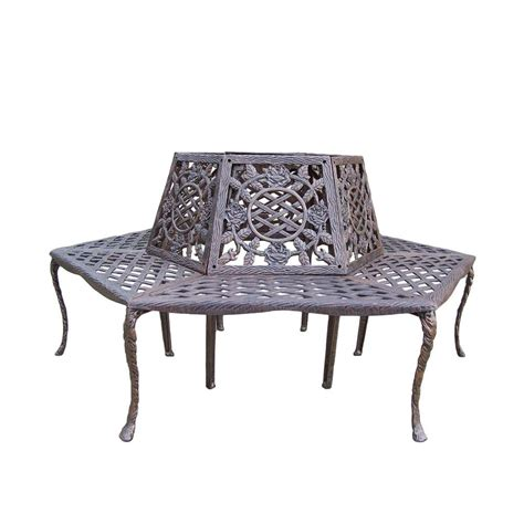 outdoor benches home depot oakland living tea rose patio tree bench 5016 ab the home depot