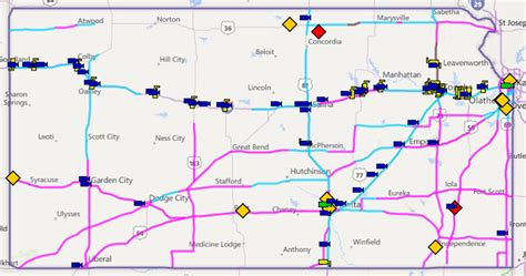 road conditions map kansas road condition map kansas map