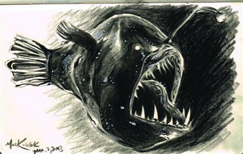 deep sea anglerfish by eurwentala on deviantart angler fish sketch by nickmockoviak on deviantart