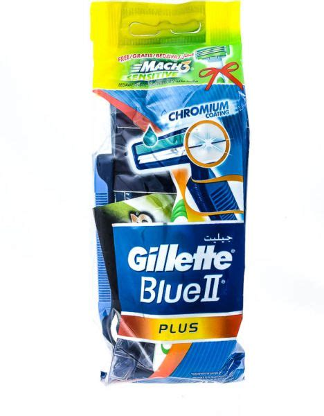 Gillette Blue3 Sensitive Isi 2 gillette blue ii plus 5 disposables with mach 3 sensitive razor 2 pieces price review and buy