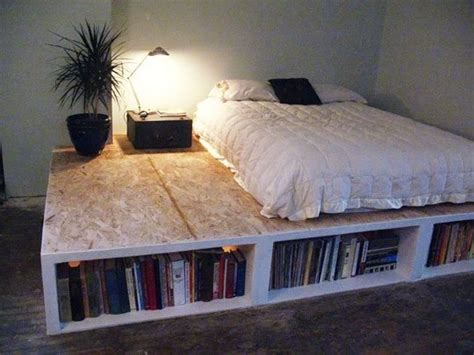 diy storage beds 15 diy platform beds that are easy to build home and