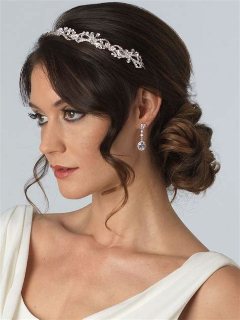 Wedding Hair With Headband by Bridal Headband In Silver Tone Pairs The Delicate