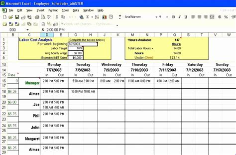 staff rota excel template exceltemplates exceltemplates