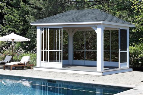 patio curtains for winter vinyl pavilions lykens valley gazebos and outdoor living