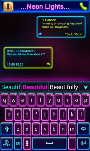 keyboard themes mobile9 download neon lights go keyboard theme google play