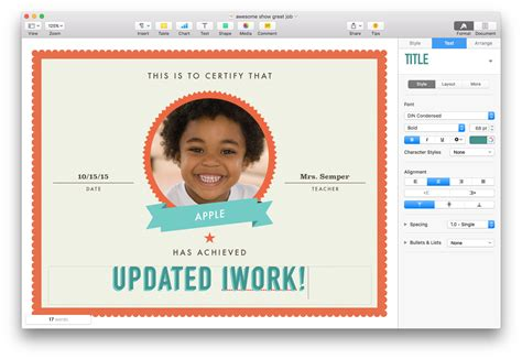 certificate templates for mac apple updates iwork for mac with touch and split