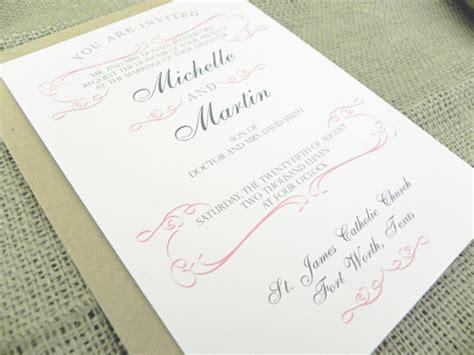 How To Determine Wording Of Wedding Invitations by Wedding Invitation Wording Every Last Detail