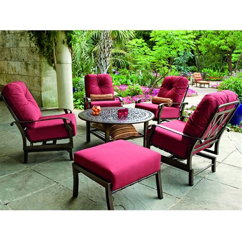 Woodard Patio Furniture Cushions Woodard Cortland Cushion Lounge Chair Set