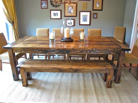 Farmhouse Kitchen Table With Bench by How To Make Farmhouse Benches Aptsforrent