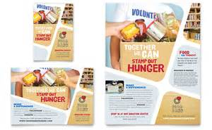 Food drive poster template food bank volunteer flyer