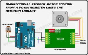arduino a dc or stepper motor from a potentiometer hobby components