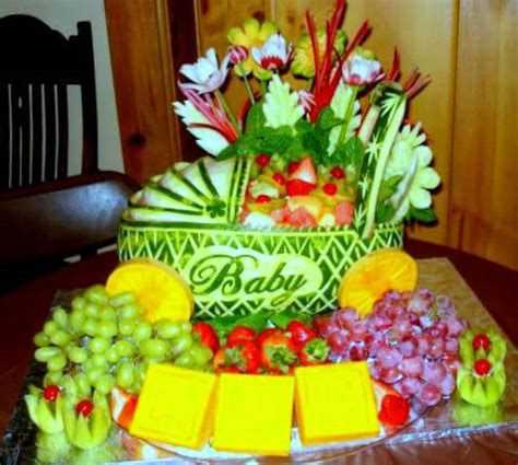 Baby Shower Fruit Carving by Watermelon Carving Baby Shower Www Pixshark Images
