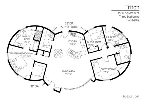 floor plan dl 3215 monolithic dome institute floor plan dl 3203 monolithic dome institute