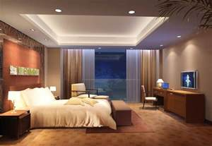 Bedroom Overhead Lighting Ideas Beige Bedroom Design With Charming Recessed Ceiling Light Also Pleasant White Bed And Excellent